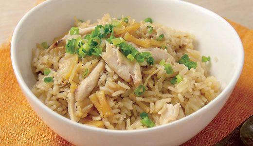 干し貝柱と鶏手羽中の中華風炊き込みご飯