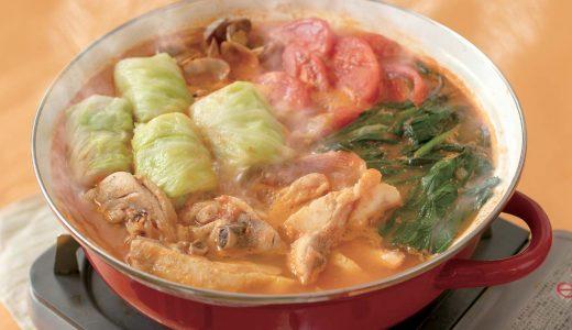 鶏と魚介のトマト鍋