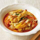 手羽元と根菜のトマト煮込み